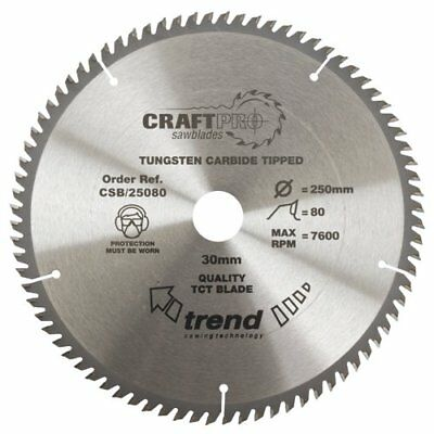 Trend Csb/25080 Craft Saw Blade 250Mm X 80T X 30Mm