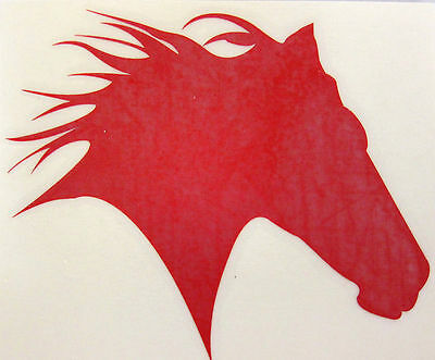 Mustang Horse Decal  Western Cowgirl for Trailer Truck Laptop Sm Red Glitter