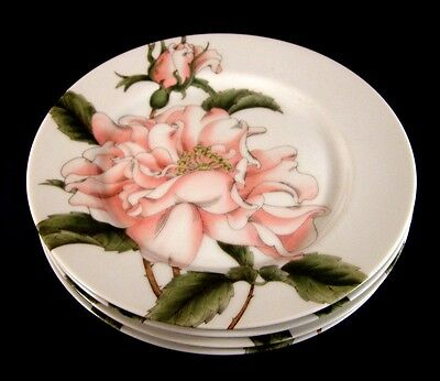 Vintage 1982 Fitz & Floyd SUMMER ROSE Accent Plate Set of Four