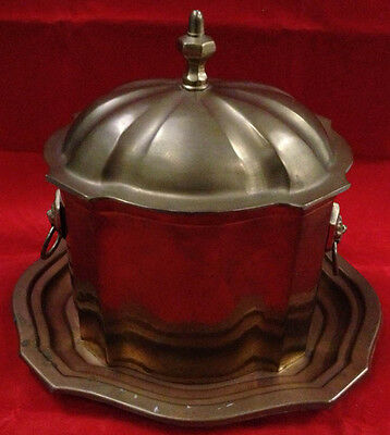 70's Decorative Crafts Brass Box Humidor & Tray - Lions Head Handles Hinged Lid