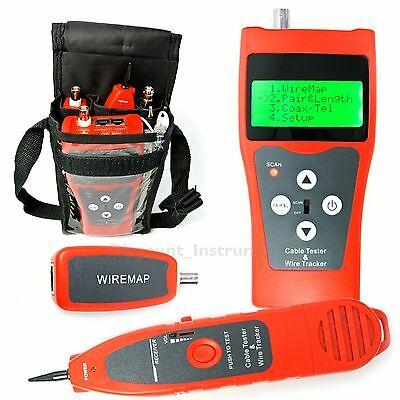 Network Cable Length Tester Hunt Wire Sort USB Cable Coaxial 5E 6E RJ45 RJ11 LAN