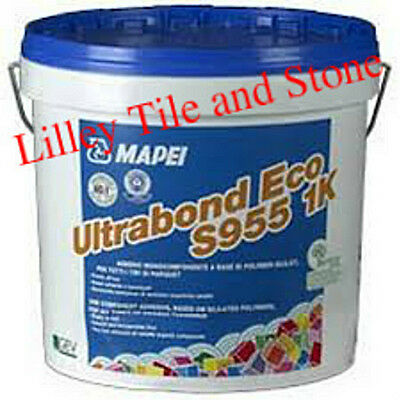 MAPEI ULTRABOND ECO S955 1K Wood Adhesive 15kg Tub with Spreading Trowel