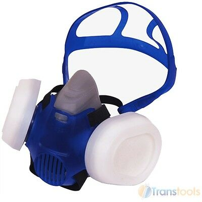 Vitrex P2 Twin Filter Respirator Sanding Face Dust Mask Adjustable Straps 331100