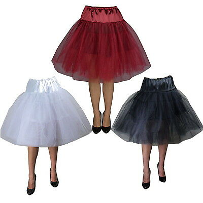 Rockabilly 50s Dress Petticoat Pinup Swing Retro Under Skirt  Sizes 8 -28 Plus