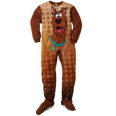 J47 ScoobyDoo Kids Boys One Piece Footed Pyjamas Jumpsuit  Size 4  6  8
