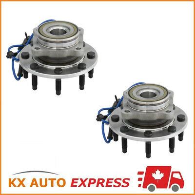 2 Front Wheel Hub Bearing Assembly For Chevy Silverado 2500Hd 2005 2006 4Wd 8Lug