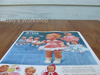 Reproduction 1931 Ideal TICKLETOES doll Catalog  AD