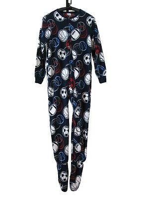 J49 Kids Boys One Piece Sleepsuit Footed Pajamas Pyjamas Size 2 3 4 5 6 7