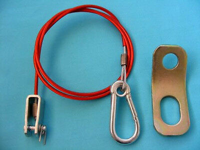 Breakaway Cable with CLEVIS PIN & FIXING BRACKET for Trailer & Caravan