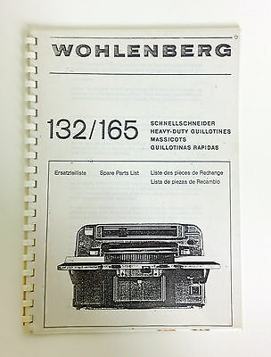 WOHLENBERG Spare Parts List Book 132/165 in English, German, French and Spanish
