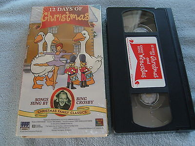 12 Days of Christmas (VHS, 1995) - BING CROSBY SUNG SONGS - ANIMATED
