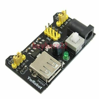 Solderless MB-102 Breadboard Power Supply - Dual 5V and 3.3V DC Jack and USB New