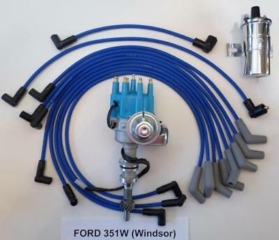 FORD 351W Windsor BLUE HEI Distributor w// 65,000 HI-OUTPUT COIL /& FREE PIGTAILS
