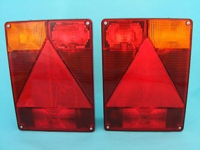 2 x Radex 6800 'Quick-Fit' Plug In 9 Pin Rear Trailer Lights  #TR