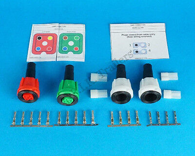 Radex 'Quick-Fit' Wiring Plug & Pins Set for 2800 2900 5800 6400 6800 Lamps