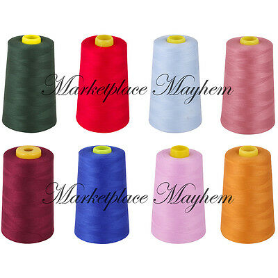 4 X 5000YD / 4572M - POLYESTER OVERLOCKING THREAD - INDUSTRIAL - SEWING - 120s