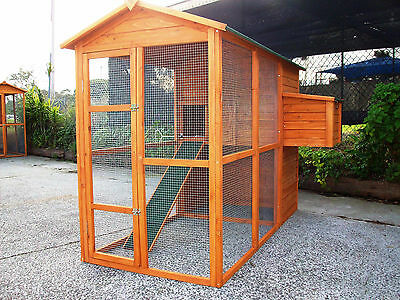 Chicken Coop & Run Medium WALK IN Hen Chook Rabbit HOUSE HUTCH BIG PICK UP