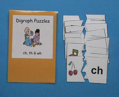 Teacher Made Literacy Center Resource Game Digraph Puzzles