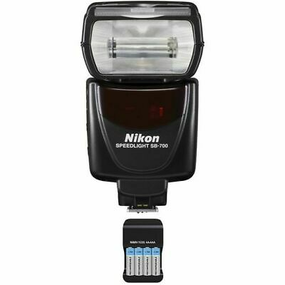 Nikon Speedlight SB-700 AF Shoe Mount Flash + Batteries & Charger