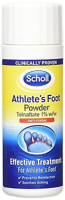 Scholl Skin Fungal Infections Nappy Rash Athlete's Foot Powder Intertrigo 75g