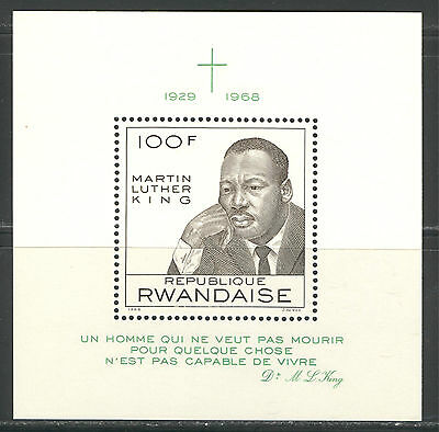 MARTIN LUTHER KING ON RWANDA 1968 Scott 255, MNH