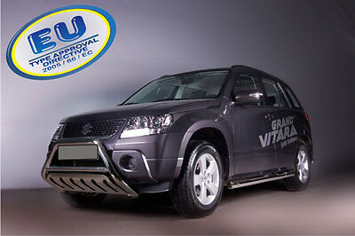 PARE BUFFLE SUZUKI GRAND VITARA  HOMOLOGUE INOX Ø 60mm avec Plaque de protection