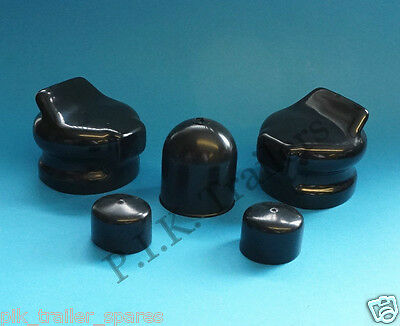 2 x Plug & Socket Covers & BLACK Towball Cover for Caravan towing
