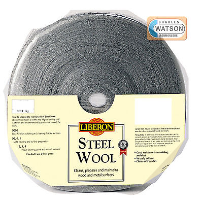 LIBERON 1kg 00 SUPER FINE GRADE STEEL WIRE WOOL High Quality Crumble Resistant