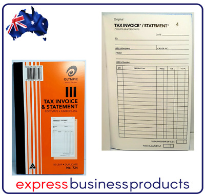 Olympic #724 Duplicate Tax Invoice & Statement Book - AO140870