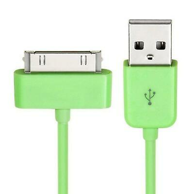 Green 3M Meter USB Data Sync Charger Cable Lead iPhone 4 4S 3G 3GS iPod iPad 2 3