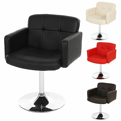 sessel stuhl drehstuhl leder creme schwarz hocker chrom rot retro drehsessel. Black Bedroom Furniture Sets. Home Design Ideas