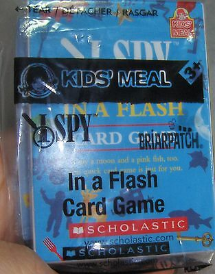 Wendy's Kids Meal Toy I Spy in a Flash Card Game Mini Scholastic Briarpatch 2013