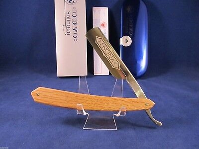 Dovo 6/8 Spanish Oak Solingen Germany Straight Razor Frost Etch Mint -1196865