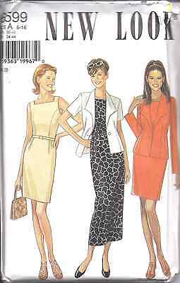 6599 Vintage NEW LOOK SEWING Pattern Misses Dress Jacket 6-16 UNCUT OOP SEW FF