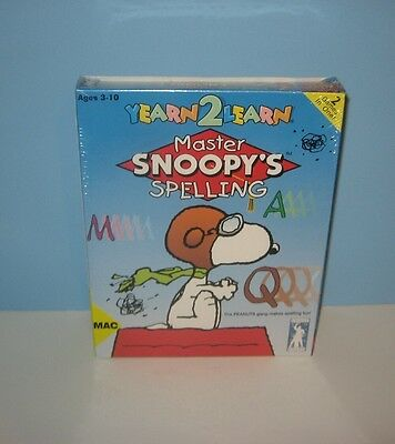 1994 Master Snoopy's Spelling Game Mac / Macintosh Brand New Factory Sealed