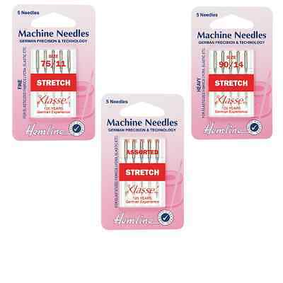 Hemline Stretch Sewing Machine Needles Klasse Elastic or Lycra Fabrics