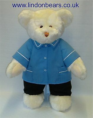 New Nhs Nurse Lindon Jointed Teddy Bear –16Inch / 40Cm Tall–Rrp £37 Now Only £22