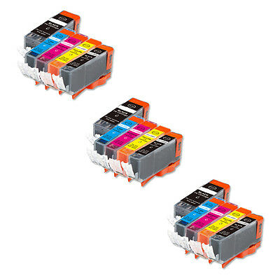15 PK NEW Ink Set with CHIP for PGI-225 CLI-226 Canon MG5220 MG5320 MX882 MX712