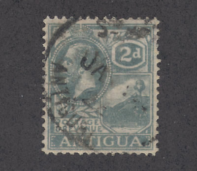 Antigua SG 70a used. 1921 2p gray, watermarked sideways, rare. APEX Cert.
