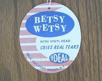 1950's Ideal BETSY WETSY doll WRIST hang TAG  N 5  (Reproduction)