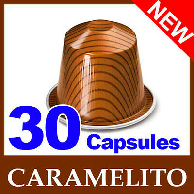 30 CARAMELITO Capsules Nespresso Coffee Pods with caramel flavoured