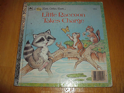 Vintage A Big Little Golden Book Little Raccoon Takes Charge 1986 #10254 Borgo