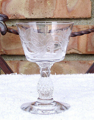 Mid Century  1950 - 1957  HEISEY   PLANTATION IVY   Etched   LIQUOR COCKTAIL