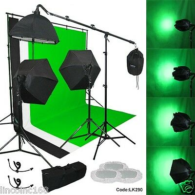 Linco 3 Backdrop Support Stand Photography Studio Video Softbox Lighting 3 Kit
