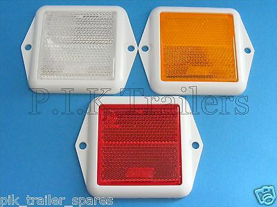 FREE P+P* Square Reflectors for Driveway Posts, Garden Walls, Trailers Caravans