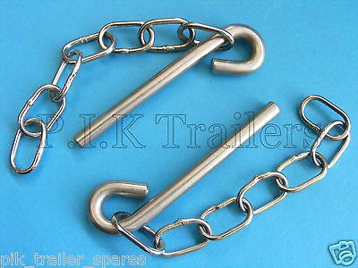FREE P&P* 2 x 7mm Cotter Pins & Chain - Ifor Williams Trailers & Horsebox #10575