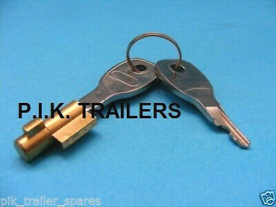 *FREE P+P* Security Anti-Theft Lock for Pressed Steel Coupling Hitch on Trailers