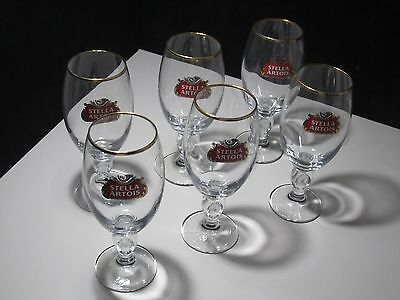 6 Stella Artois Chalice 33CL Glasses Beer Pub Bar stemware Pint glass 11.2oz New