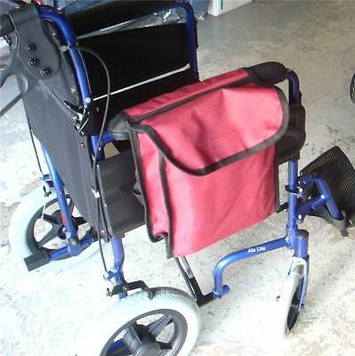 Maroon Wheelchair & Scooter Storage bag fits on Armrest