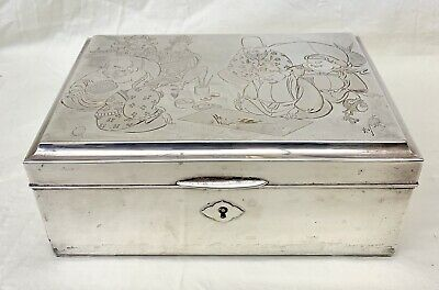 Japanese / Chinese Magnificent 950 Sterling Silver Box   VERY RARE